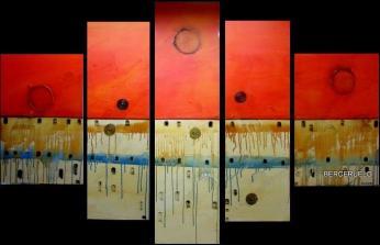 cuadros modernos polipticos abstractos vendido x codigo