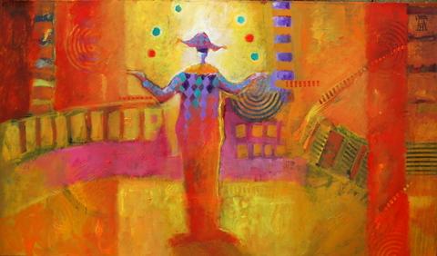 cuadros abstractos circus