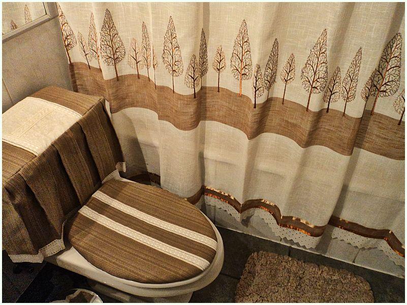 Cortinas de baño bordadas a mano: paz montea re decoración ...