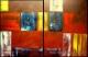 cuadros dipticos modernos 120x80 codigo 975 bastidor de 4 cms. ( VENDIDO )