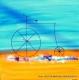 pinturas modernas (bicicleta) 60x60 codigo 1487 bastidor de 3 cms. ( VENDIDO )