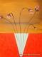 """cuadros modernos 80x60 """"flores"""" codigo 1694 ( VENDIDO )"""